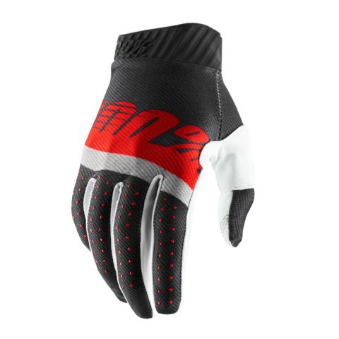 RIDEFIT 100% Glove Steel Grey/Red